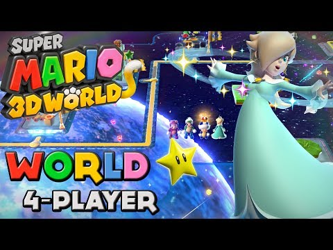 Super Mario 3D World World Star 4 Player