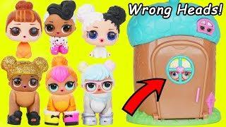 LOL Surprise Dolls get Custom Wrong Heads Pet Animals + New Baby Bon Bon - Confetti Wave 2 Video