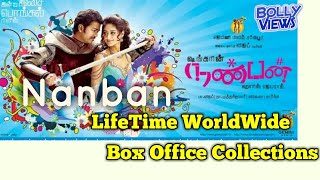 NANBAN (3 IDIOTS) 2012 South Indian Movie LifeTime WorldWide Box Office Collection Verdict HiT Flop