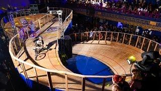 Fixed Gear Bike Race on Rare Figure 8 Track - Red Bull Mini Drome