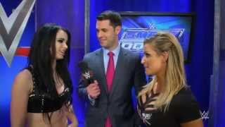 Natalya is joined by Paige to discuss her upcoming match (WWE App - January 15, 2015)