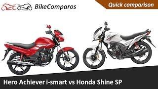 Hero Achiever 150 i smart vs Shine SP Comparison Review