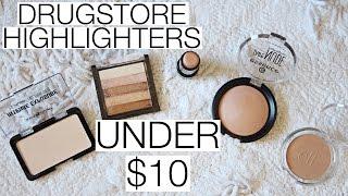 TOP 5 Drugstore Highlighters UNDER $10!