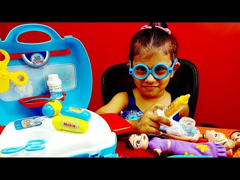 Learn & Play Medical Doctor Set Toys Video For Kids, Baby Doctor Checking Dolls Kids Videos Toddlers