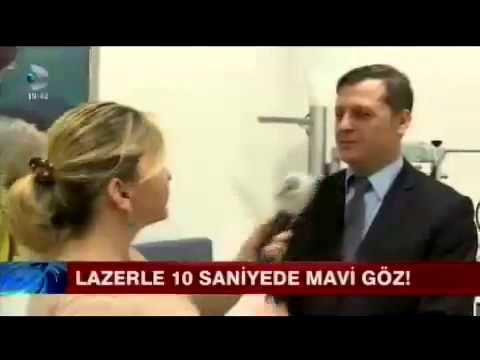 Lazer ile 10 saniyede renkli göz Op. Dr. Levent Akçay Kanal D