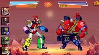 Sieu Nhan Game play - Super V run run- siêu nhân đánh với anh em nhà rumble