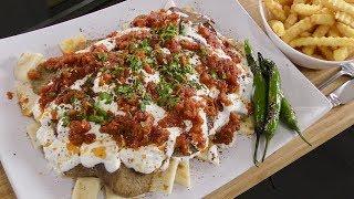 Iskender Kebab with Tomato Sauce and Garlic Yogurt - Turkish Cuisine - Turkish Street Food
