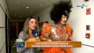 Você na TV: Equipe de João Kléber acorda Denise Rocha em seu quarto