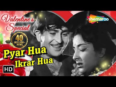 Pyar Hua Ikraar Hua - Raj Kapoor & Nargis - Shree 420 - Bollywood Evergreen Songs - Manna Dey & Lata