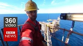 In 360: Life on an Oil Rig- BBC News