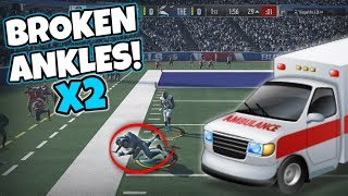 ANKLE BREAKER LEFT 2 PLAYERS ON LIFE SUPPORT #RIP - Madden Packed Out