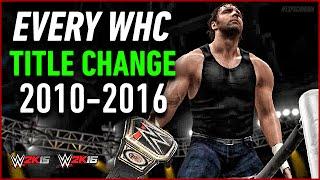 Every WWE WHC Title Change From 2010 - 2016 (WWE 2K15 / WWE 2K16)