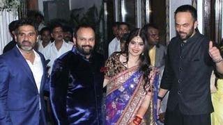 Shahrukh, Kareena & Ajay Devgn @ Rohit Shetty's SISTER's wedding RECEPTION