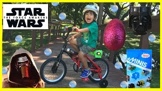 PLAYTIME IN THE PARK Disney Star Wars THE FORCE AWAKENS Kylo Ren Bicycle for kids Egg Surprise Toys