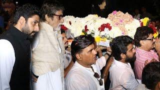 Amitabh & Abhishek Bachchan At Om Puri