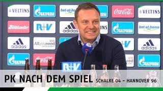 PK nach dem Spiel | FC Schalke 04 - Hannover 96