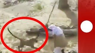 Man vs. leopard: Wild animal attack in India village