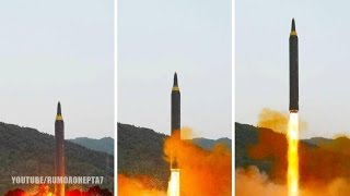 North Korea Shows Off New Long-Range Missile Hwasong-12 in Latest Test - Coréia do Norte Novo Míssil