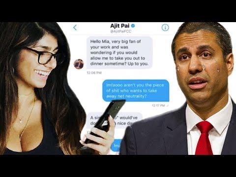 Xxx Mp4 Mia Khalifa EXPOSES FCC Chairman Ajit Pai In Her DMs Net Neutrality 3gp Sex