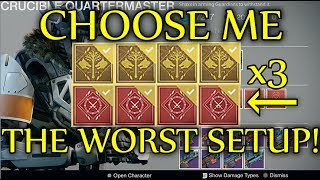 Destiny - PICK ME THE WORST LOADOUT POSSIBLE! (Crucible Quartermaster Package Opening #12)