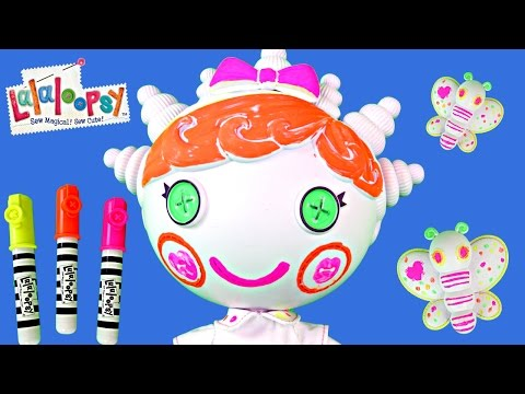 Lalaloopsy Color Me Doll Nick Jr. Paint Draw Stamp Erase Coloring Arts and Craft Toys with DCTC