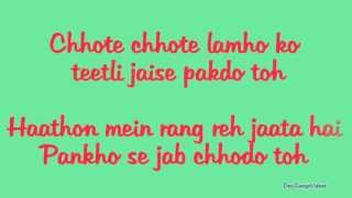 Jiya re (Lyrics HD) - Jab Tak Hai Jaan (2012)   Ft. Neeti Mohan Full Song