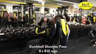 IFBB PRO AHMAD AHMAD SHOULDERS WORKOUT
