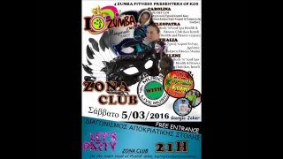 Ist zumba masquerade party with live music kos 2016