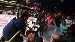 راي ميستيريو يقتل مصارع في الحلبة Rey Mysterio kills wrestler in the ring