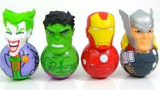 WEEBLE WOBBLES Rockerz with Hulk, Joker, Batman, Spiderman, Ironman and FASHEMS AND MASHEMS Toys
