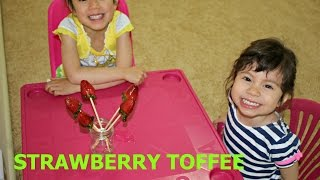How to make Strawberry Toffee with Hanna and Mia
