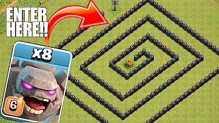 YOU WONT BELIEVE THIS🔸GOLEM MAZE WITHOUT LOOKING🔸Clash of clans troll raids
