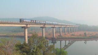 Incredible Konkan Railway - Trains Cruising Through Bridges, Tunnels, Viaduct, Scenery etc.