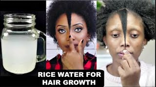 Overnight Rice Water For Fast Hair Growth | Natural Hair Routine