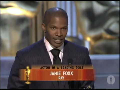 Jamie Foxx Wins Best Actor 2005 Oscars