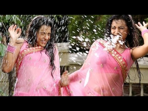 Trisha In Wet Saree