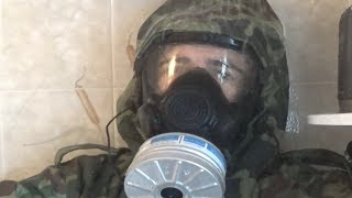 Polish FOO-1 CBRN Suit Opening and Testing