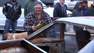 Rat Rod Grandpa Goes Street Racing! No F*#$ Given!! Bad ASS!!