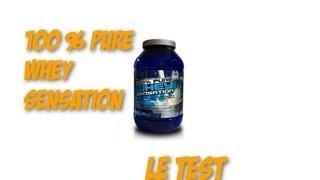 Test complement alimentaire : 100 % pure whey sensation de First Class Nutrition