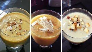 PAAYASAM /KHEER RECIPES /Dates & Carrot/Mango Semiya/Banana & Rice Dumpling/Vishu Special