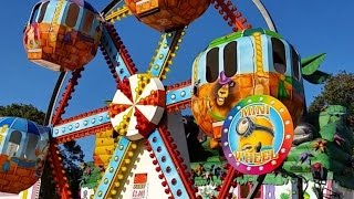 Outdoor activities: Carnival FunFair rides, Amusement park, ferris wheel, carousel,  Blue Orange