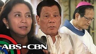 TV Patrol: Robredo, nanawagan sa Simbahan at kay Duterte na magtulungan