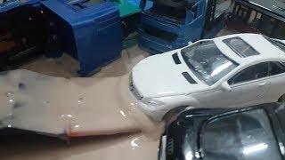 Police Cars vs Street Racer - police cars in the mud - Cars for Kids - Police cars for children toys