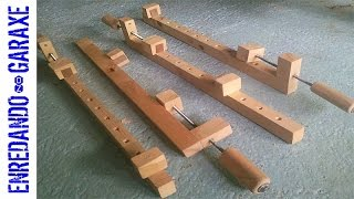 How to make wooden bar clamps