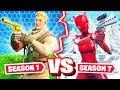 SEASON 1 vs SEASON 7 CHALLENGE *NEW* Game Mode in Fortnite Battle Royale