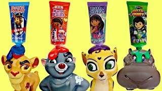 Disney Jr. LION GUARD Finger Bath Paint, Learn Color Paw Patrol Princess Sofia Doc Mcstuffins / TUYC