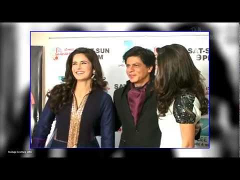 Katrina Kaif and Anushka Sharma, Shahrukh Khan on the sets of  'Sa Re Ga Ma Pa'.
