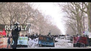 Live: Protests against Macron's reforms hit Paris