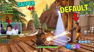 We PROTECTED this Default Skin from 50 STREAM SNIPERS trying to kill him.. (Fortnite Challenge)