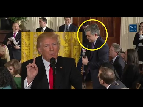 Even Jim Acosta CNN had to laugh very fake news. President Trump schools CNN with humor & facts